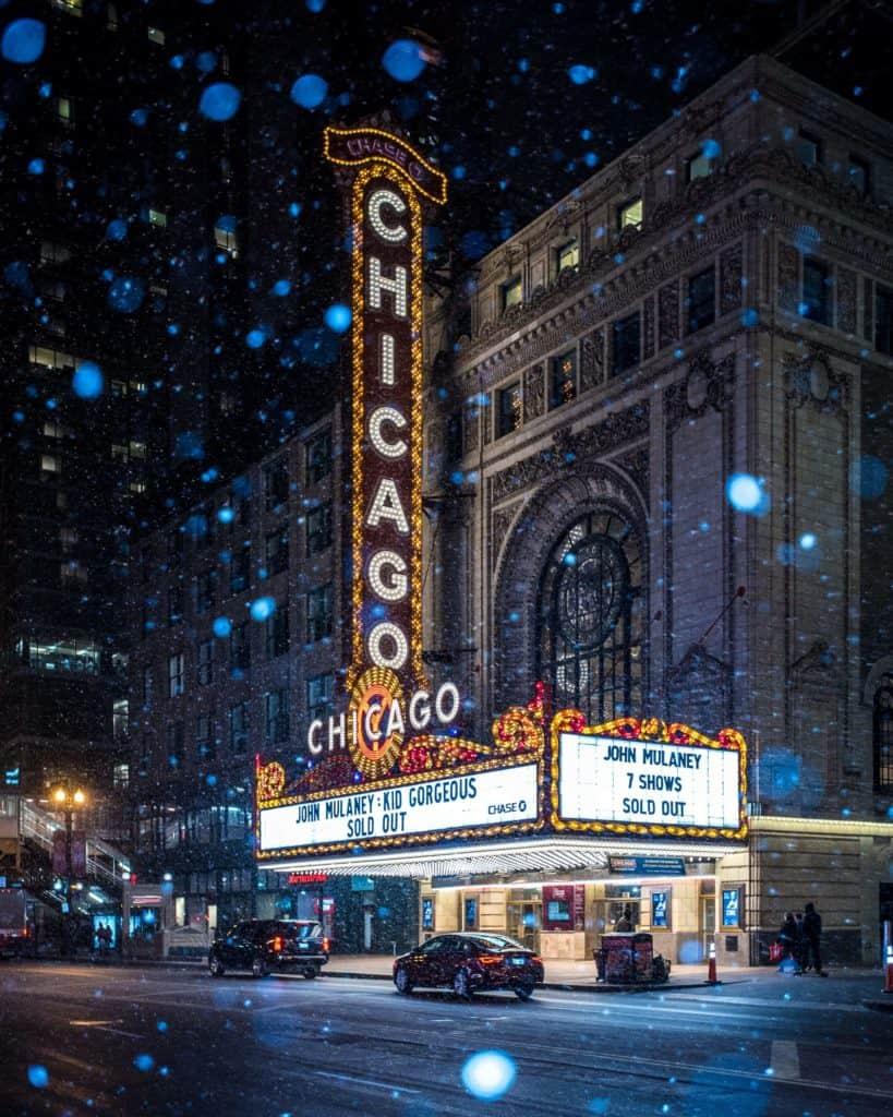 Chicago theatre proposal photographer