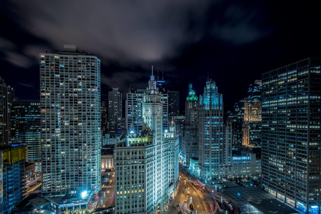 The best engagement location in Chicago: Londonhouse Rooftop