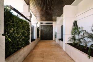 Entryway for the wedding venue at Hotel Alba Tampa
