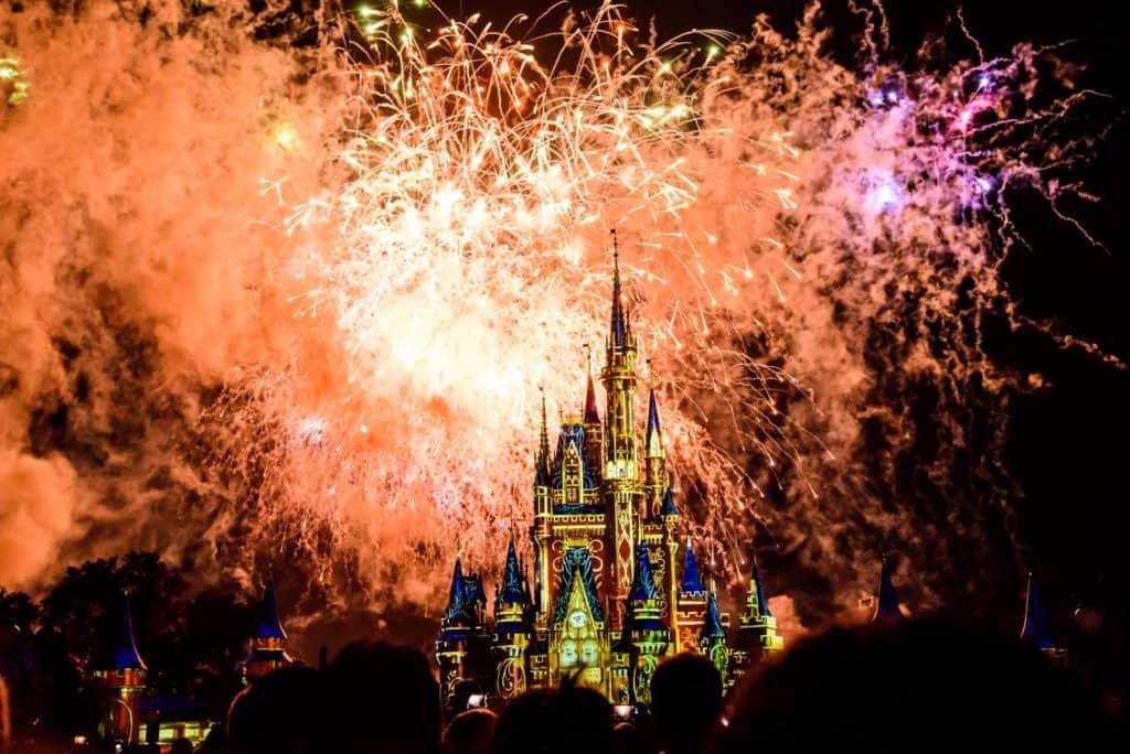 fireworks at walt disney world in magic kingdom