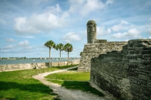 Spanish fort in St Augustine Florida