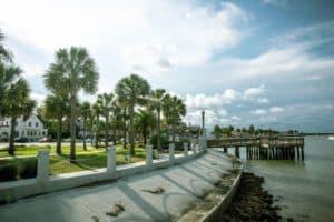 Pier in St Augustine Florida on the Atlantic Ocean