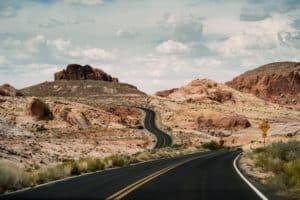 Winding roads elopement at Valley of Fire near Las Vegas