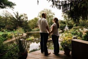 engagement at Hamstra Gardens