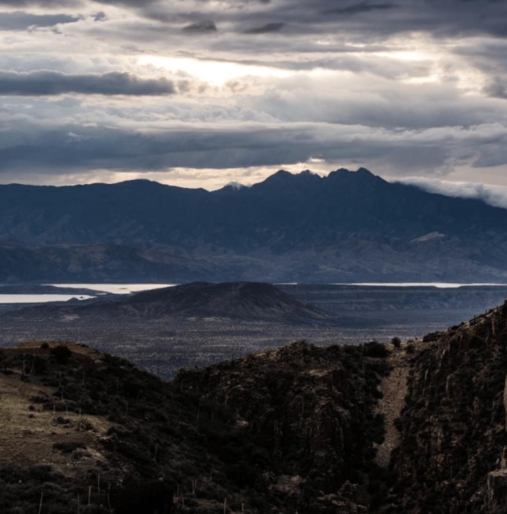 Sunset at Four Peaks in Roosevelt Arizona