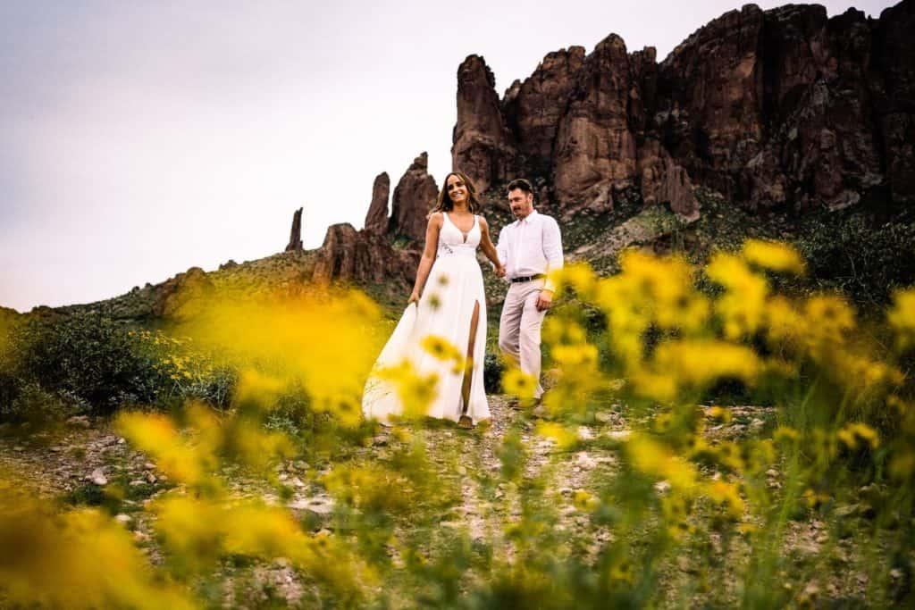 arizona elopement at lost dutchman state park