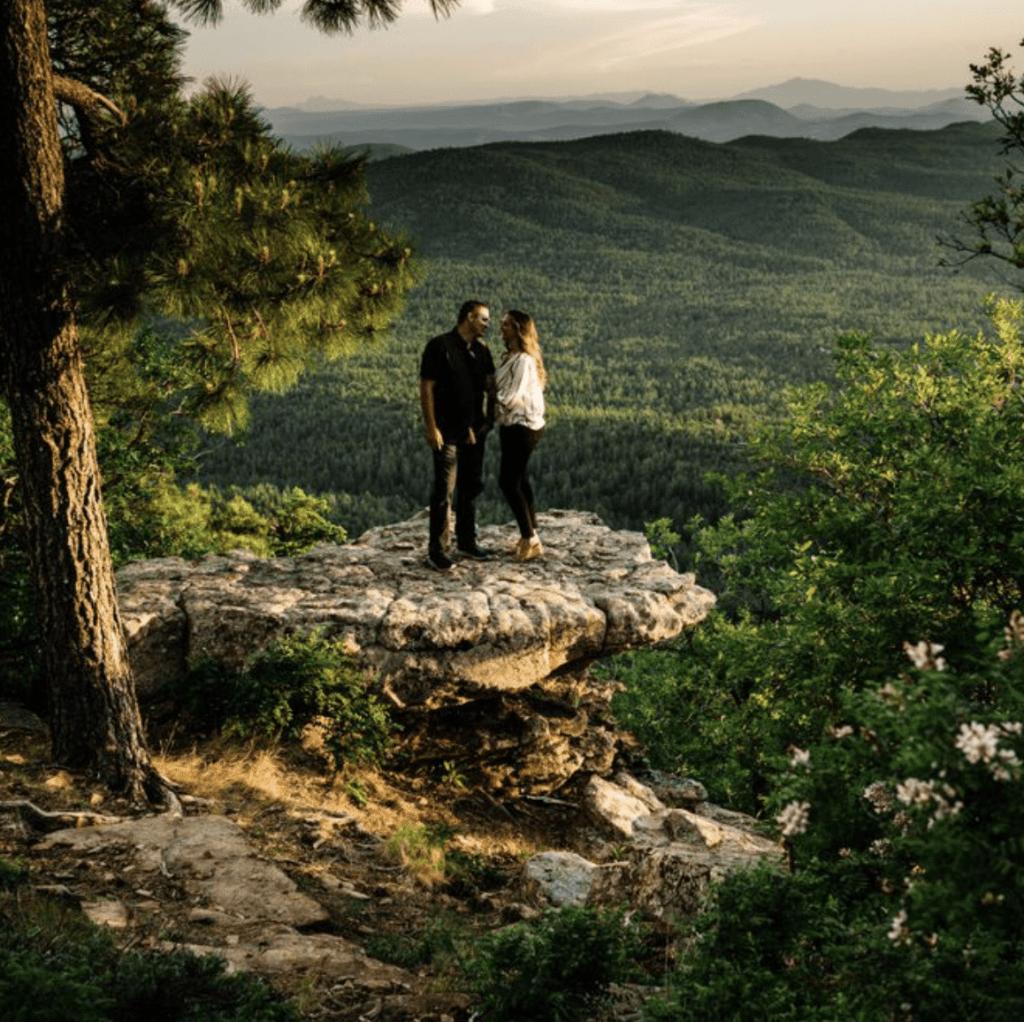 Mongollon Rim in Payson Arizona elopement