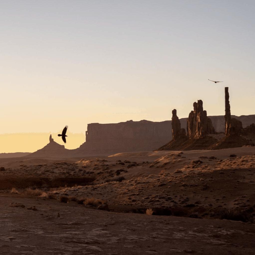 sunrise elopement in monument valley arizona