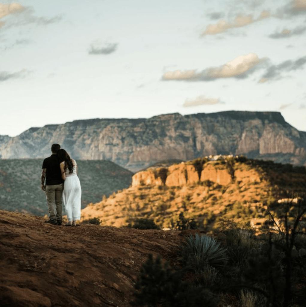 Cathedral Rock elopement at sunset in sedona arizona