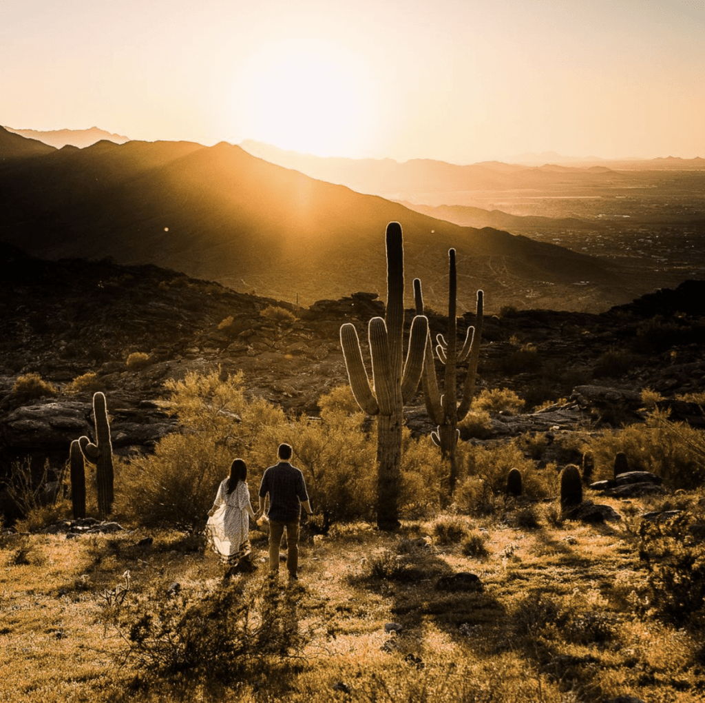 Sunset locations in Phoenix: Dobbins Lookout at South Mountain