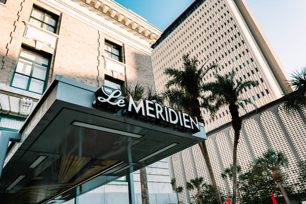Photo of the entrance to the downtown Tampa wedding venue le Meridien.